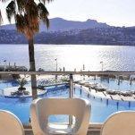 Hotel Baia Bodrum - balkon uitzicht op zee