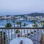 Hotel Baia Bodrum - balkon uitzicht