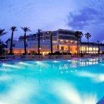 Hotel Baia Bodrum - Het zwembad in de avond